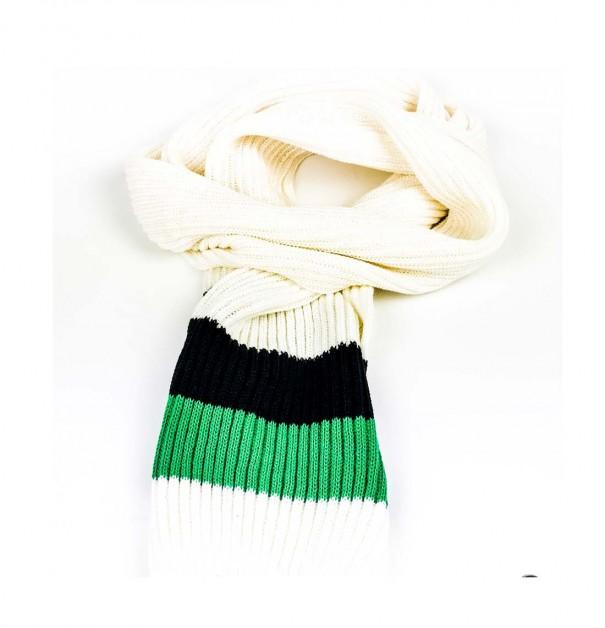 Sciarpa elegante in lana bianca...